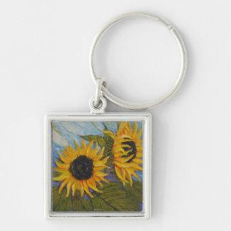 Paris' Yellow Sunflowers Key Chain
