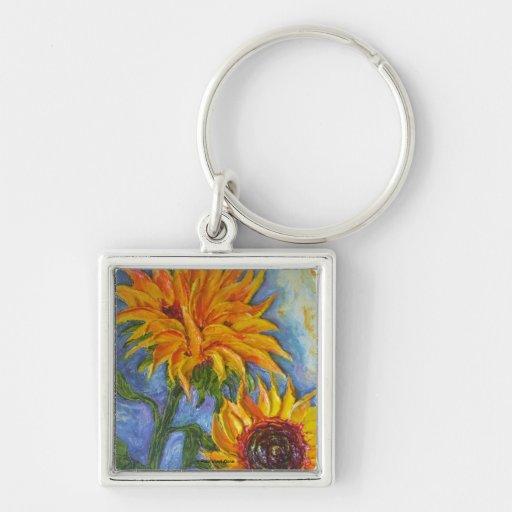Paris' Yellow Sunflowers Keychain