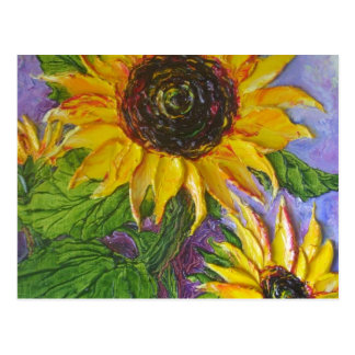 Paris' Yellow Sunflowers Postcard