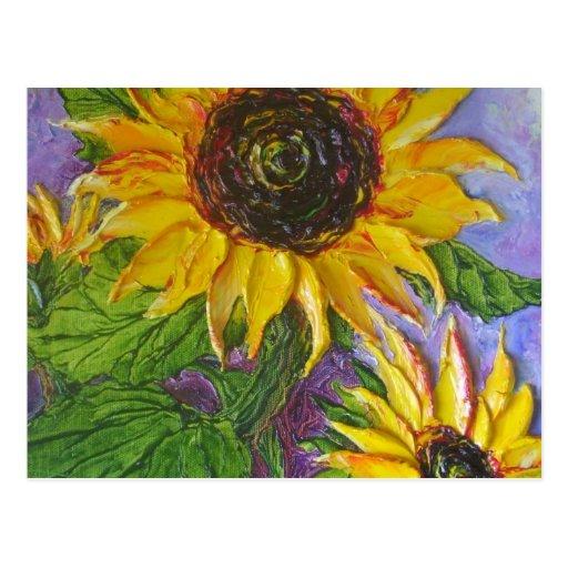 Paris' Yellow Sunflowers Post Card