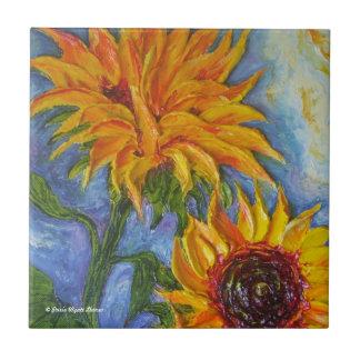 Paris' Yellow Sunflowers Tile