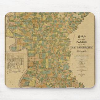 Parish of East Baton Rouge, Louisiana Map (1895) Mouse Mat