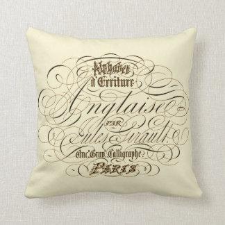 Parisian Alphabet Vintage Typography Cushion