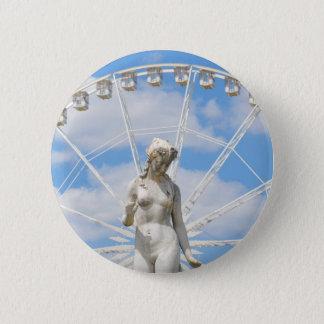 Parisian architecture 6 cm round badge