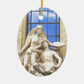 Parisian architecture christmas ornament