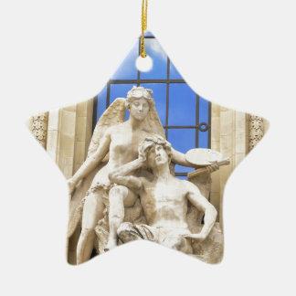 Parisian architecture christmas ornament