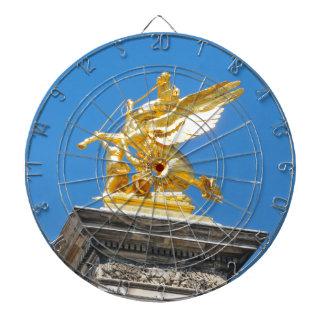 Parisian architecture dartboard