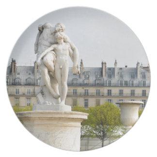 Parisian architecture dinner plate