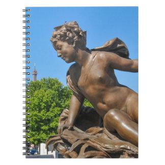 Parisian architecture spiral note book