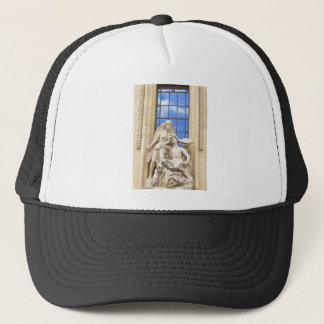 Parisian architecture trucker hat