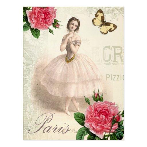 Parisian Ballerina Post Card