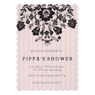 Parisian Chic Floral Shower Invitation