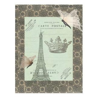 Parisian Collage Postcard