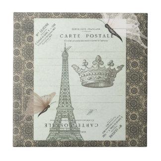 Parisian Collage Small Square Tile