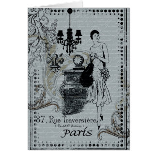 Parisian Fashion Greeting Card