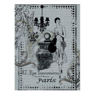 Parisian Fashion Postcard