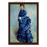 Parisian Girls (The Lady In Blue) By Pierre-August Greeting Card