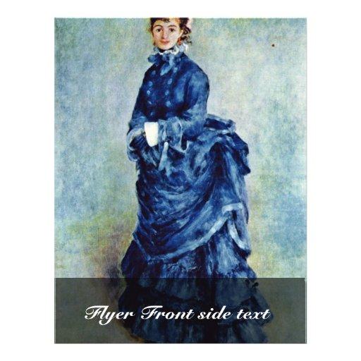Parisian Girls (The Lady In Blue) By Pierre-August 21.5 Cm X 28 Cm Flyer