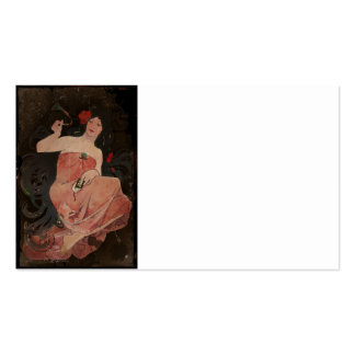 Parisian Lady on Black Pack Of Standard Business Cards