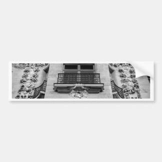 Parisian Ornate Architecture Bumper Sticker