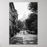 Parisian Street and Sacre Coeur - Poster