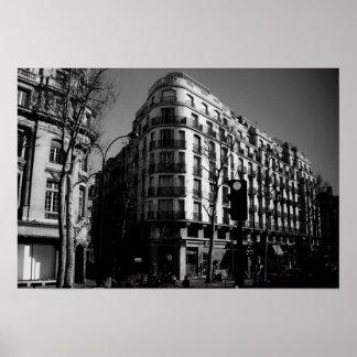 Parisian Street Corner Poster