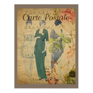 Parisian Vintage Ladies Postcard