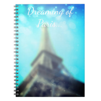 Parisian Vintage Notebook with Eiffel Tower