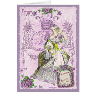 Parisian Violette Rosee Parfume Greeting Cards