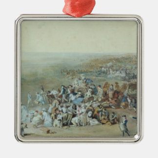 Parisians at the Champ de Mars Silver-Colored Square Decoration