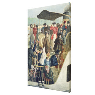 Parisians Returning from the Countryside Canvas Print