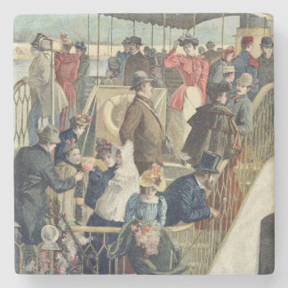 Parisians Returning from the Countryside Stone Coaster