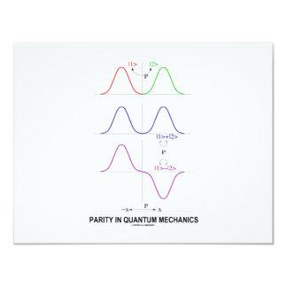 Parity In Quantum Mechanics 11 Cm X 14 Cm Invitation Card
