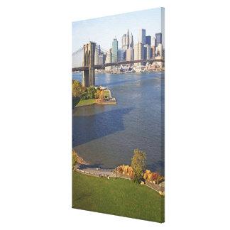 Park and Cityscape Canvas Print