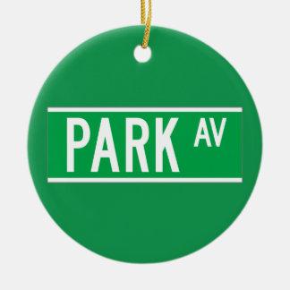 Park Av., New York Street Sign Christmas Ornament