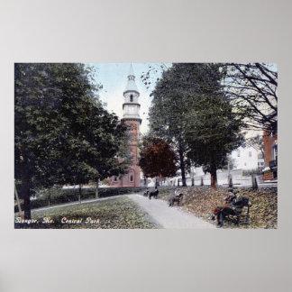 Park, Bangor Maine 1911 Vintage Poster
