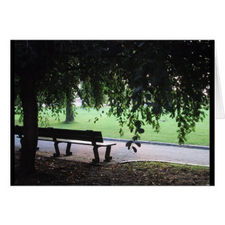 Park Bench Card