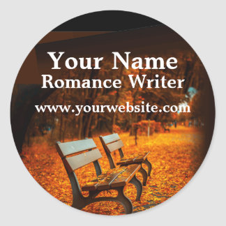 Park Benches Personalized Stickers Romance Writer