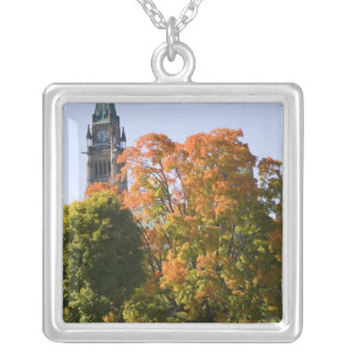 Park beside the Parliment Building in Ottawa, Silver Plated Necklace