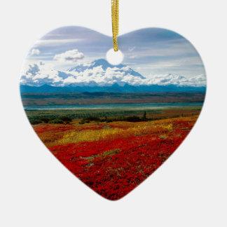 Park Brilliant Colors Of Denali Alaska Ceramic Heart Decoration