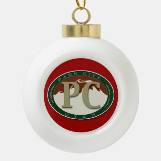 Park City Ceramic Keepsake Ornament