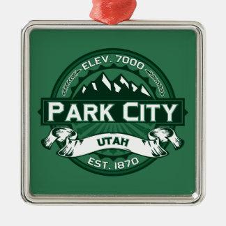 Park City Logo Forest Christmas Ornament