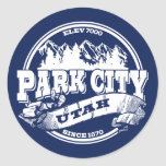 Park City Old Circle Blue Round Stickers