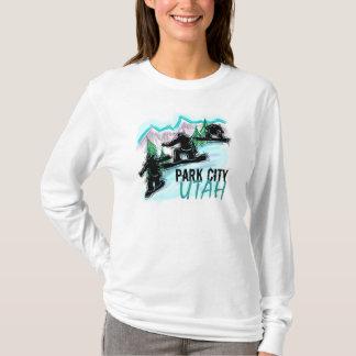 Park City Utah ladies snowboarder hoodie