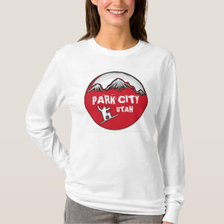 Park City Utah red snowboard ladies hoodie