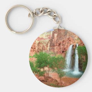 Park Dreamland Havasu Falls Grand Canyon Basic Round Button Key Ring