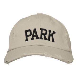Park Embroidered Hat Embroidered Baseball Cap