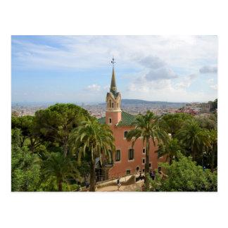 Park Guell in Barcelona. 2015 calendar Postcards