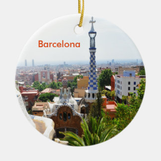 Park Guell in Barcelona, Spain Christmas Ornament