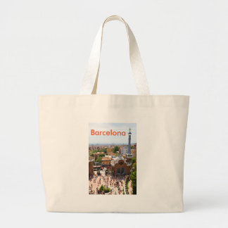 Park Guell in Barcelona, Spain Large Tote Bag